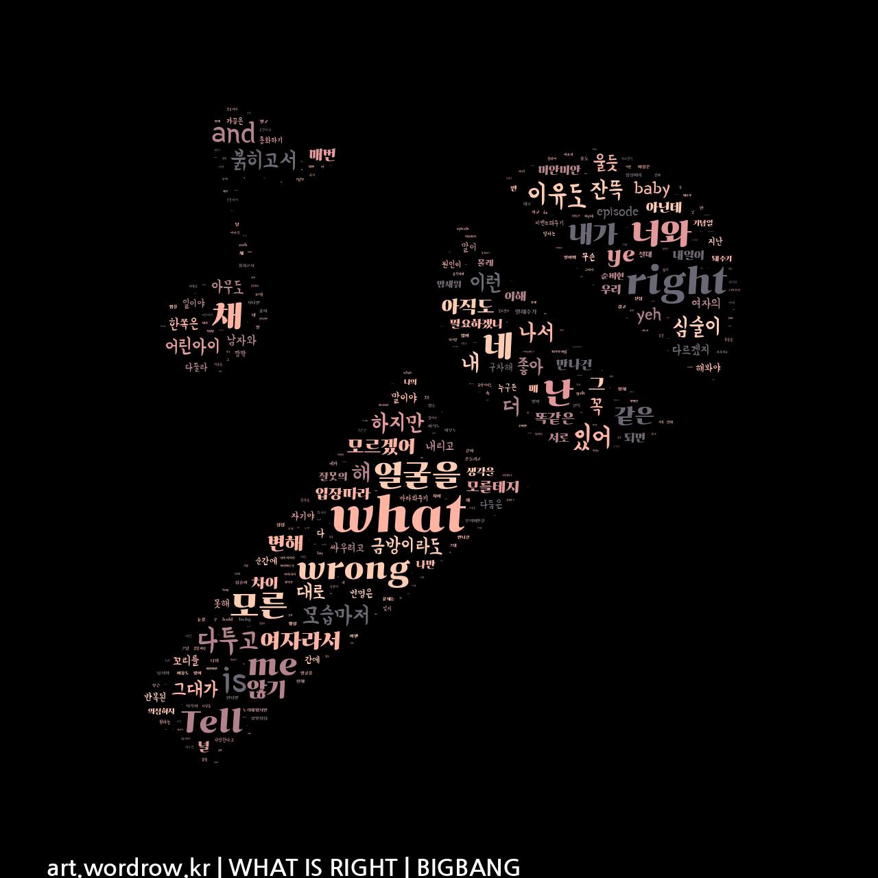 워드 클라우드: WHAT IS RIGHT [BIGBANG]-20